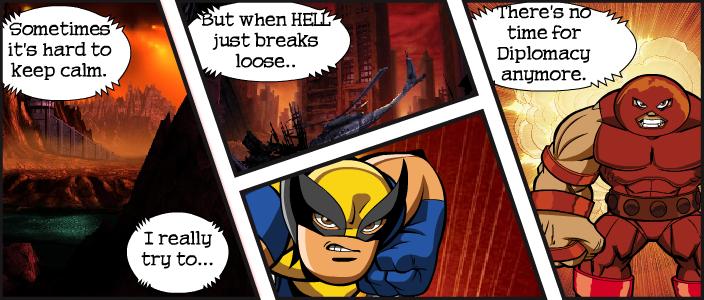 Comic creado en línea utilizando la herramienta.