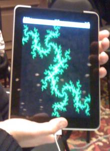 El conjunto de Julia, renderizado en un iPad.